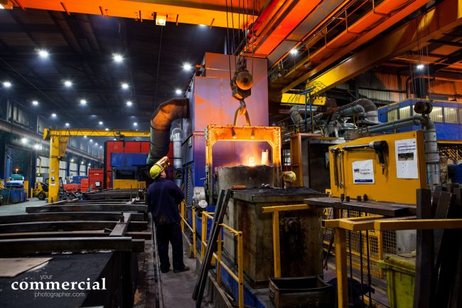 Industrial photography at a manufacturing facility in Yorkshire
