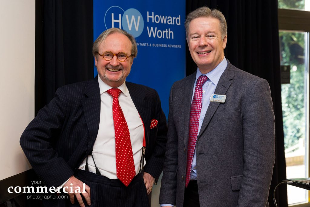 Event photography at 2017 Howard Worth Budget Briefing with Justin Urquhart Stewart at The Portal Hotel, Tarporley, Cheshire