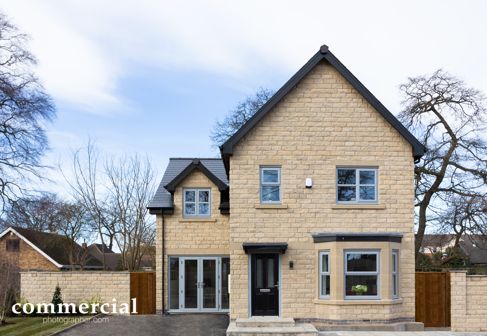 Exterior photograph in a showhome at a new development in Yorkshire