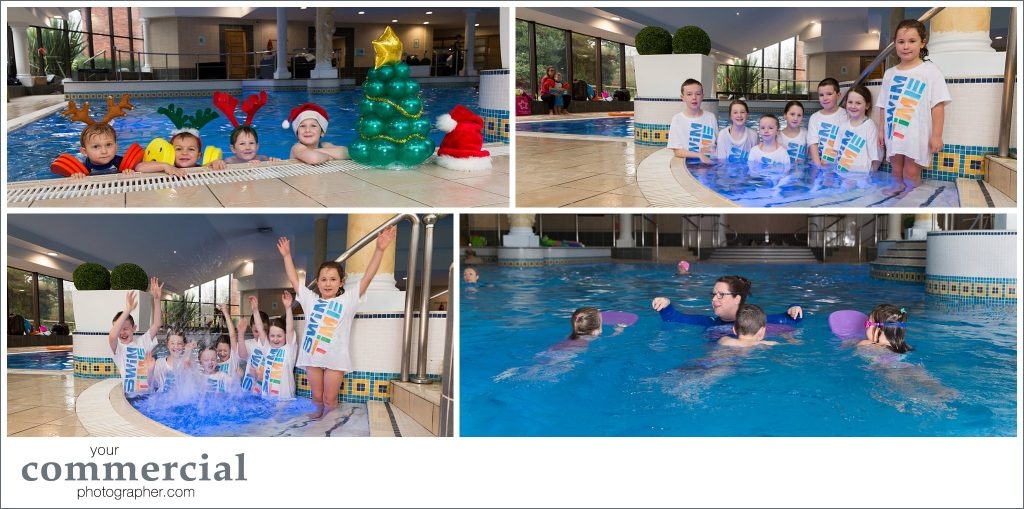 Brochure and website photography of swimming lessons in Manchester