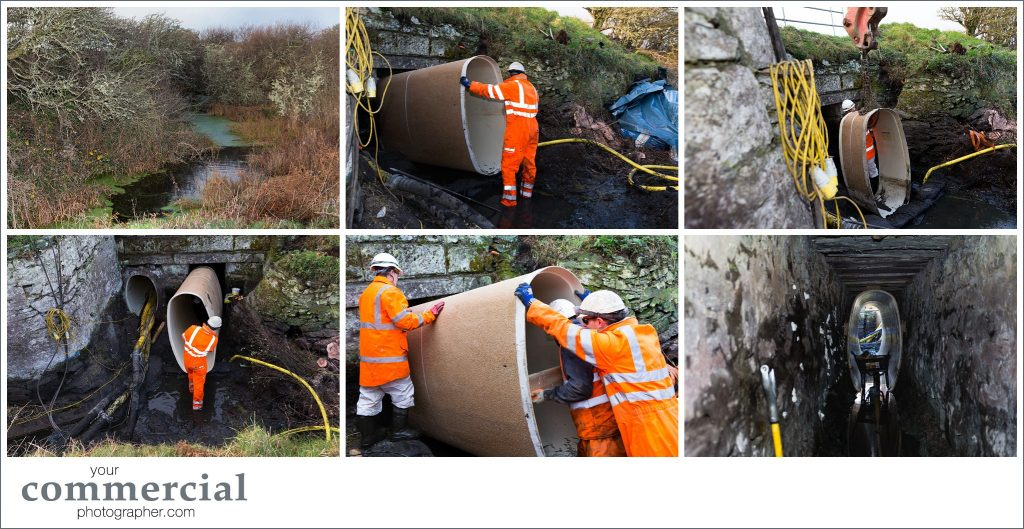Rail contracting project photography North Wales