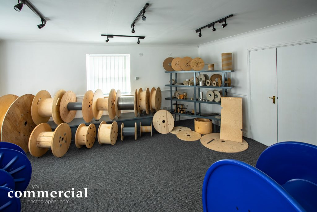 Reference photo of showroom showing product displays