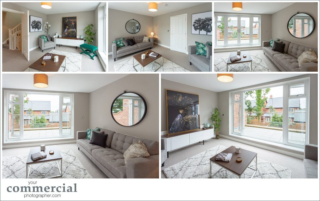 Photography of a new property development of town houses in Lymm, Cheshire