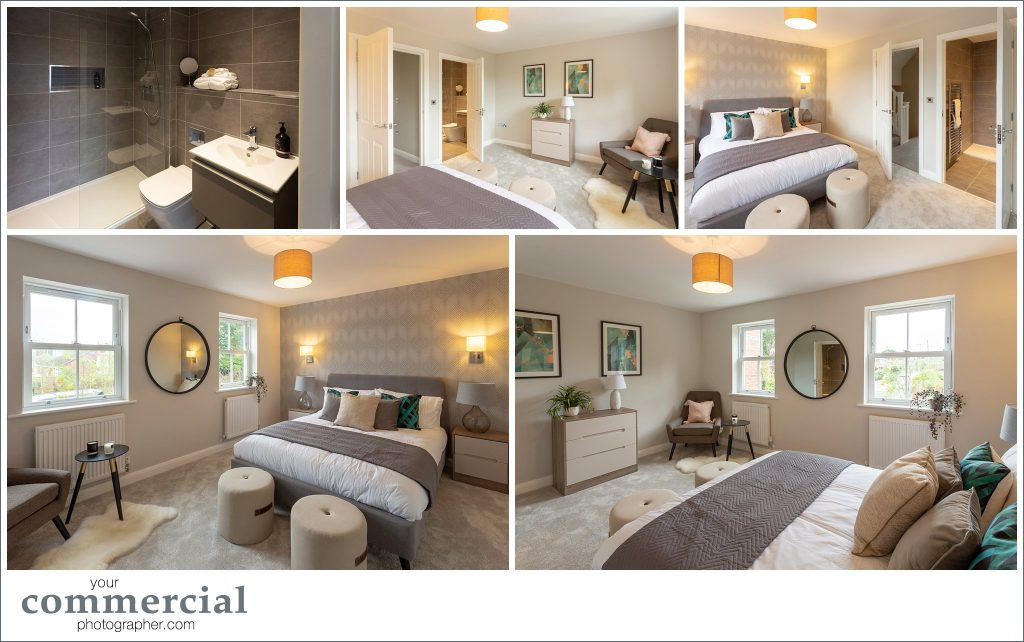 Photography of new town houses in Lymm, Cheshire