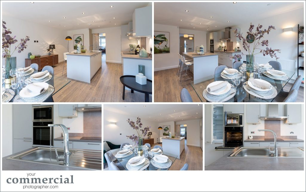 Photography of a new development of town houses in Lymm, Cheshire
