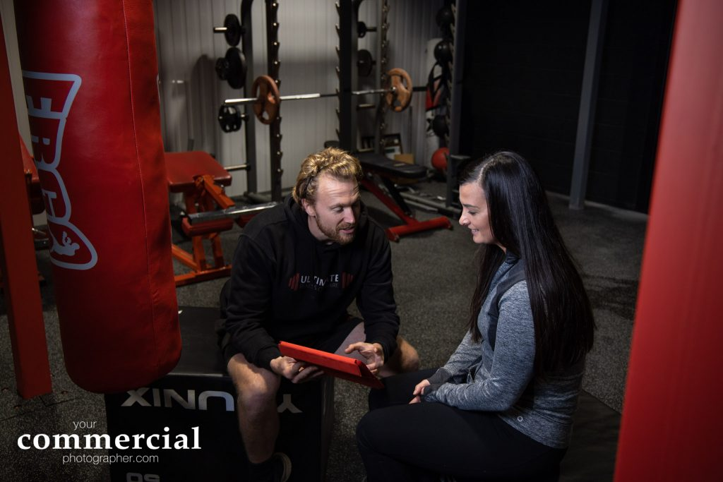 Personal training session at Ultimate Fitness Cheshire in South Warrington