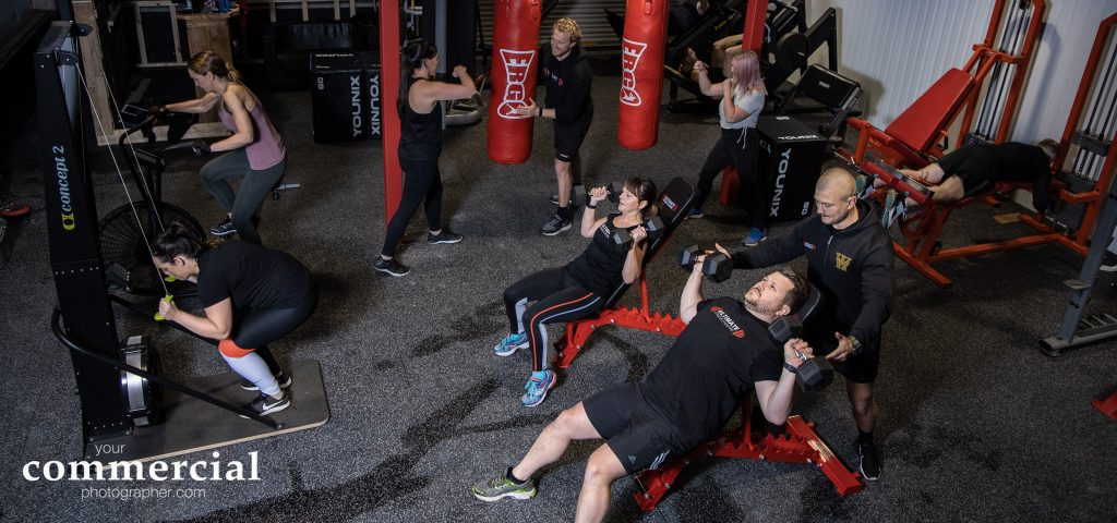 Busy training session at a gym in South Warrington