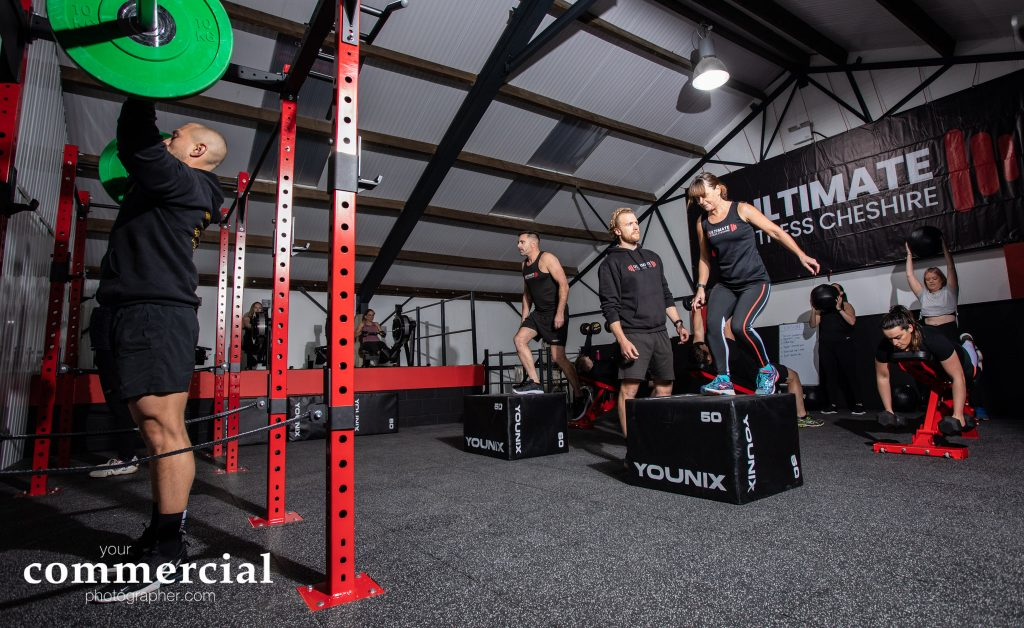 Busy training session at a gym  in Cheshire