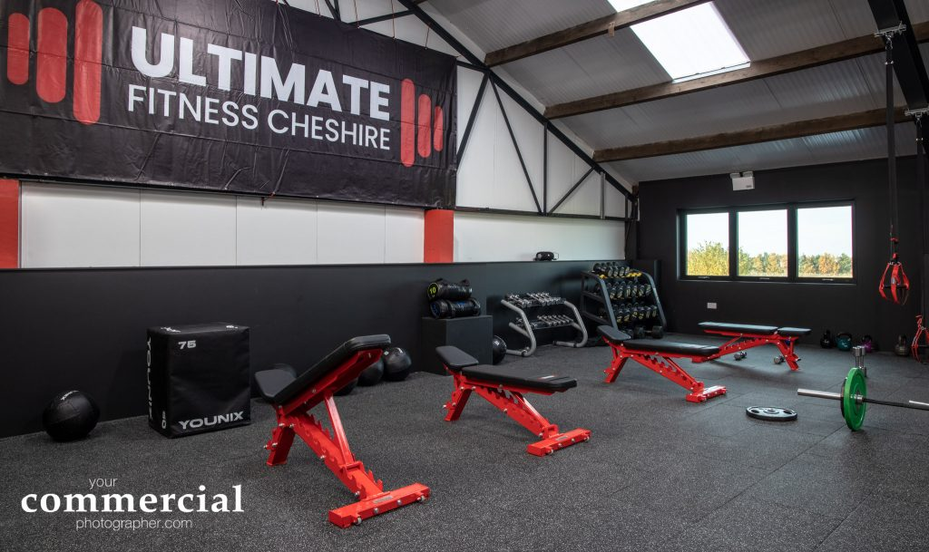 view of gym equipment at Ultimate Fitness Cheshire